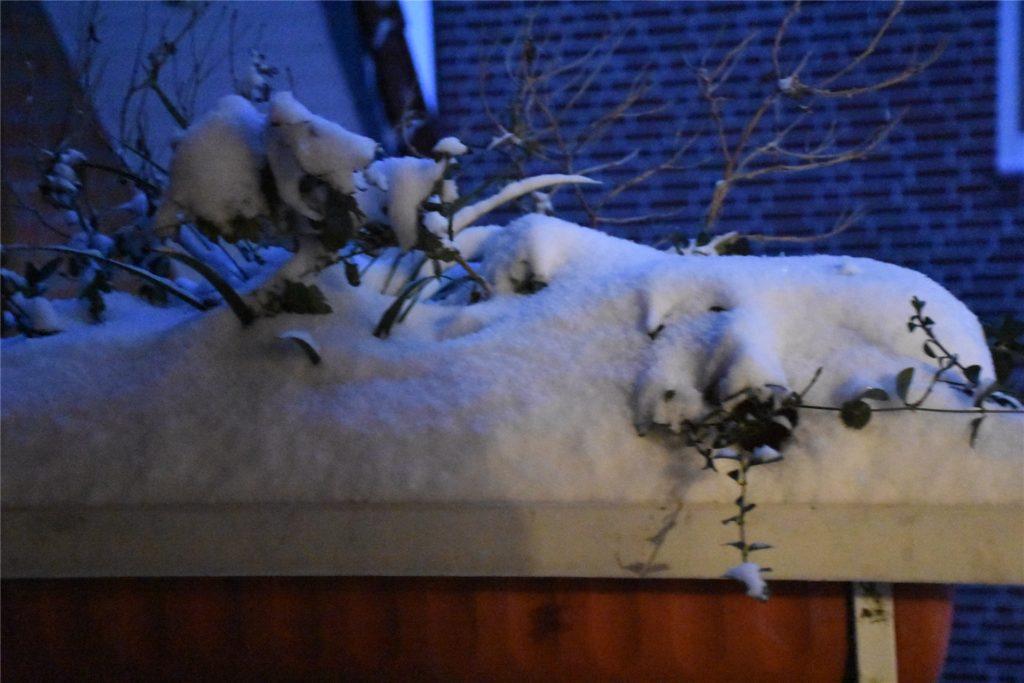 Bis zu 15 Zentimeter Neuschnee sind in der Nacht zu Sonntag gefallen.