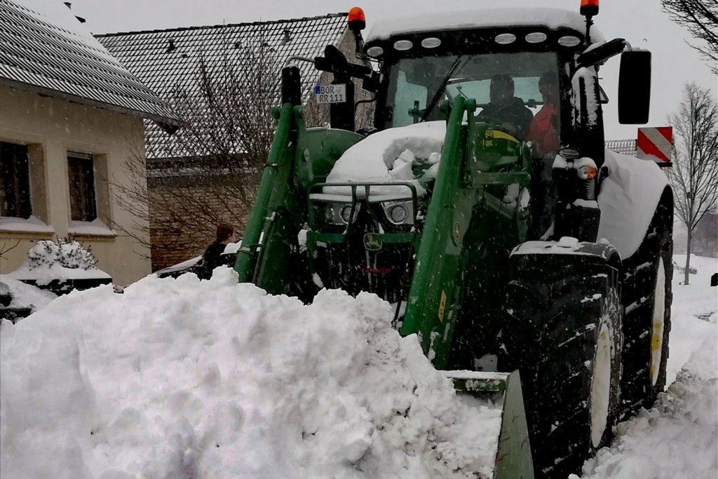 Richtig viel Schnee kam in der Dinkelgemeinde runter.