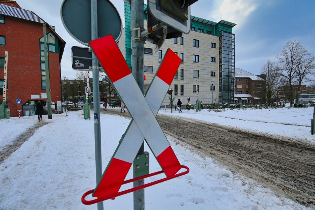 Wintereinbruch in der Castroper Altstadt. So sah es am Montag, 8. Februar 2021, dort aus.