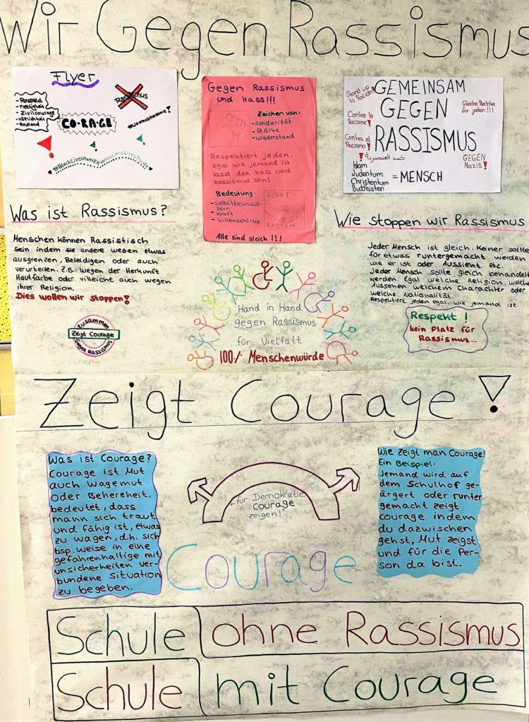 Sogar ein gemeinsames Courage-Projekt ist den Schülern im Homeschooling gelungen.