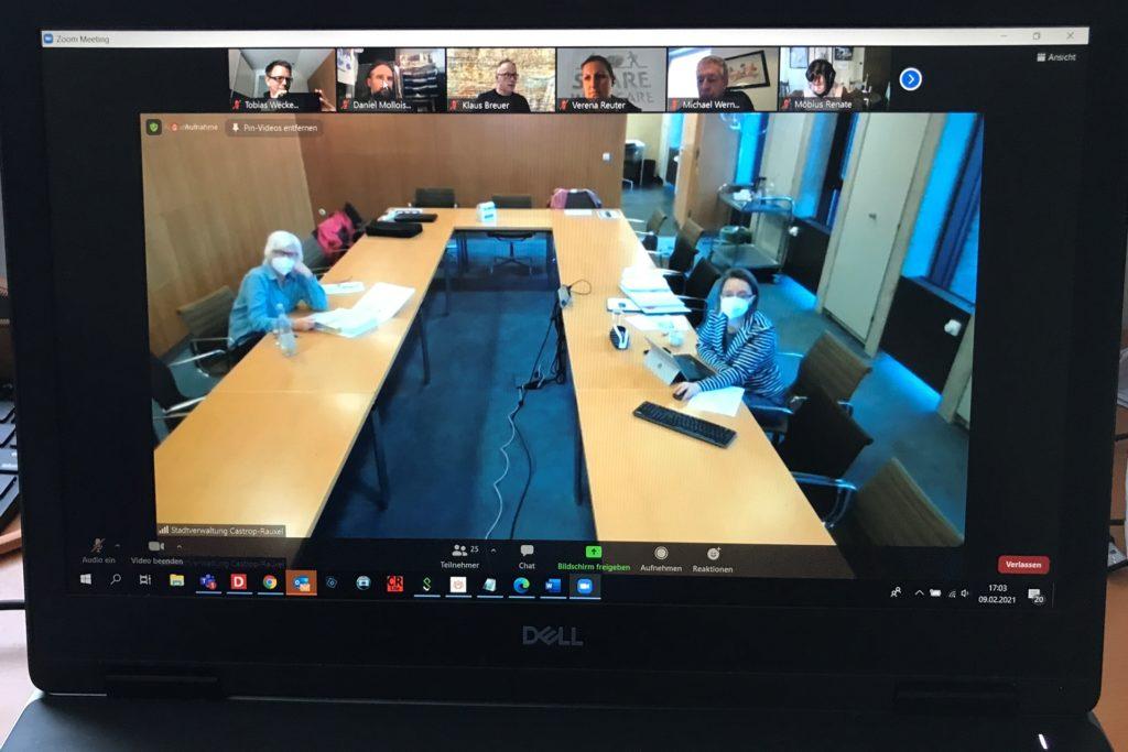 Der Umweltausschuss der Stadt Castrop-Rauxel tagte zum ersten Mal online via Zoom.