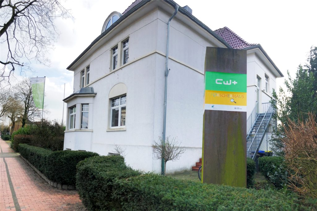 In der repräsentativen Villa an der Dufkampstraße cw+ im Coworking Space flexible Büroarbeitsplätze auf Zeit an.