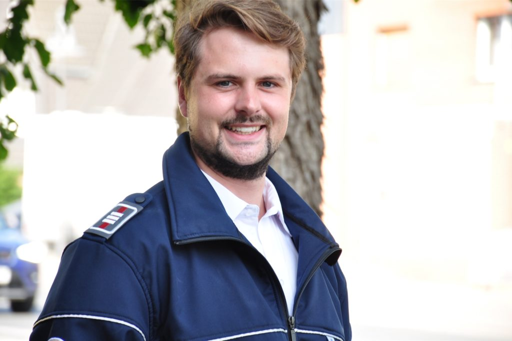 Marc Dohms steckt in der Ausbildung zum Berufsfeuerwehrmann.