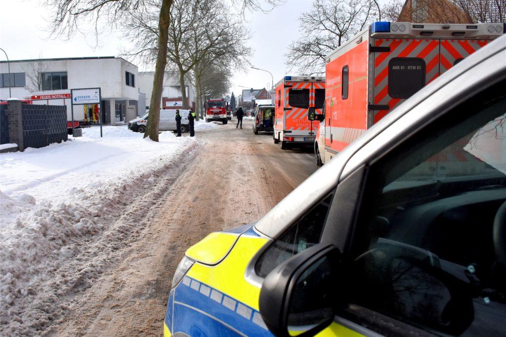 Ridder- und Industriestraße waren während des Einsatzes komplett gesperrt.