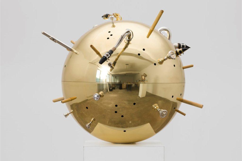 """Das Kunstwerk """"Resonator Wind"""" von Nevin Aladağ ist zugleich ein Musikinstrument."""