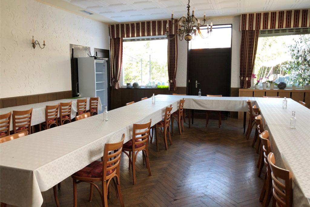 Der große Saal im Lindenhof wird von großen Gesellschaften gebucht. Wirt Bruno Schwenk hofft, dass diese Zeiten irgendwann zurückkommen