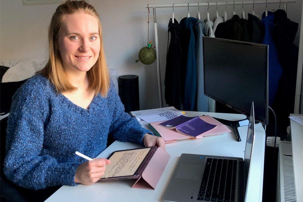 Rosanna Thobens derzeitiger Arbeitsplatz ist ihre Wohnung, nicht das Klassenzimmer.