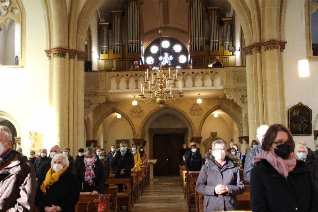 Nur eine beschränkte Zahl von Gottesdienstbesuchern durfte an der Einführungssfeier des neuen Pfarrers teilnehmen.