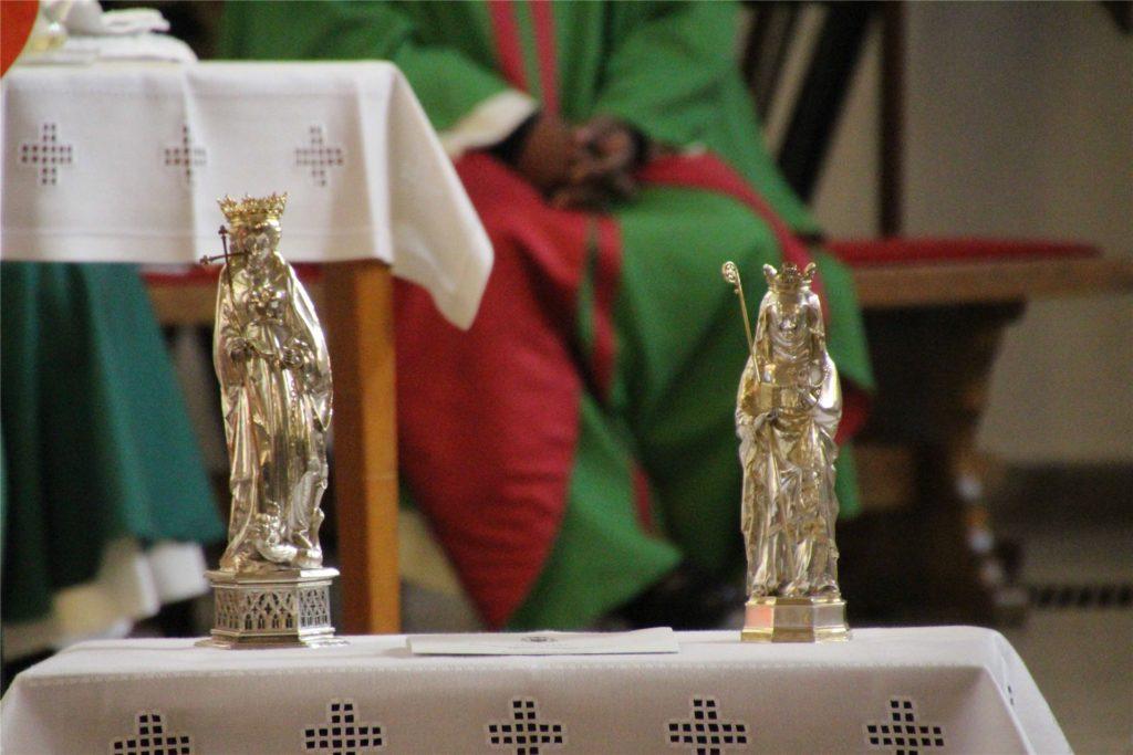 Die Namenspatroninnen St. Margareta und St. Brigida, Skulpturen der Spätgotik