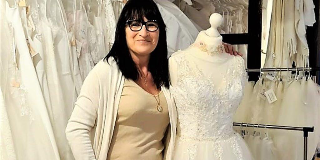 Ein neuer Verkaufsweg für ihre Brautmoden lässt Kerstin Kesper optimistisch in die Zukunft blicken.