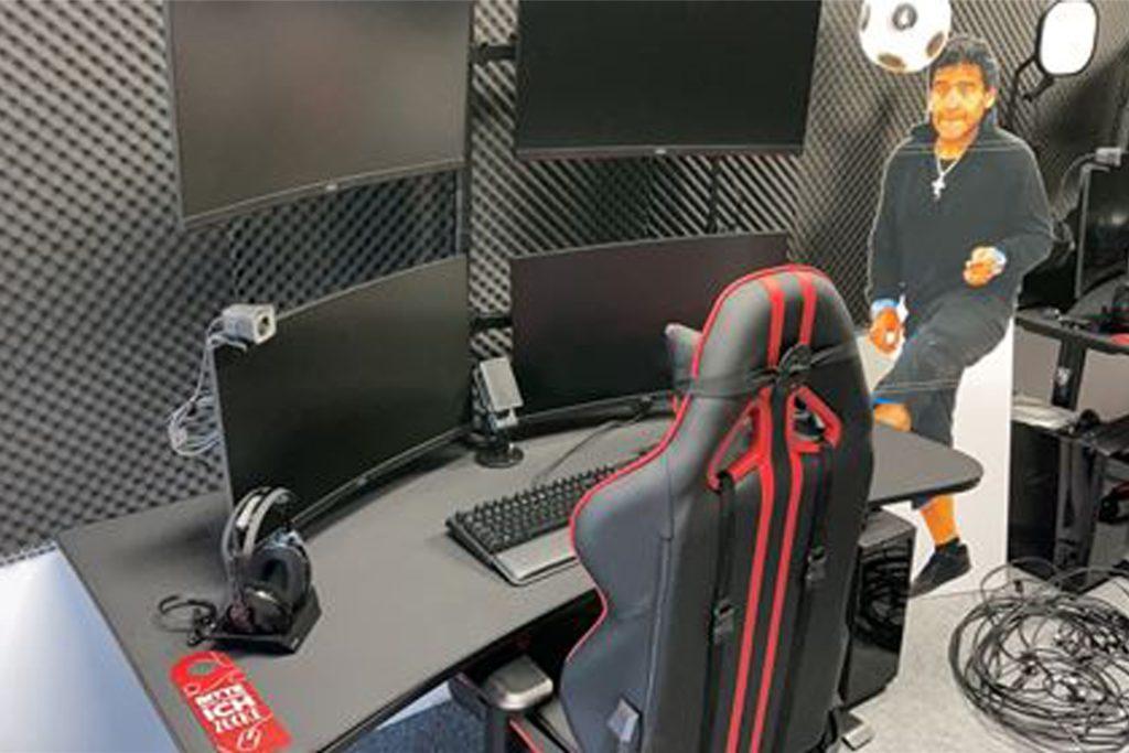 e-Sports-Raum des SV Schermbeck