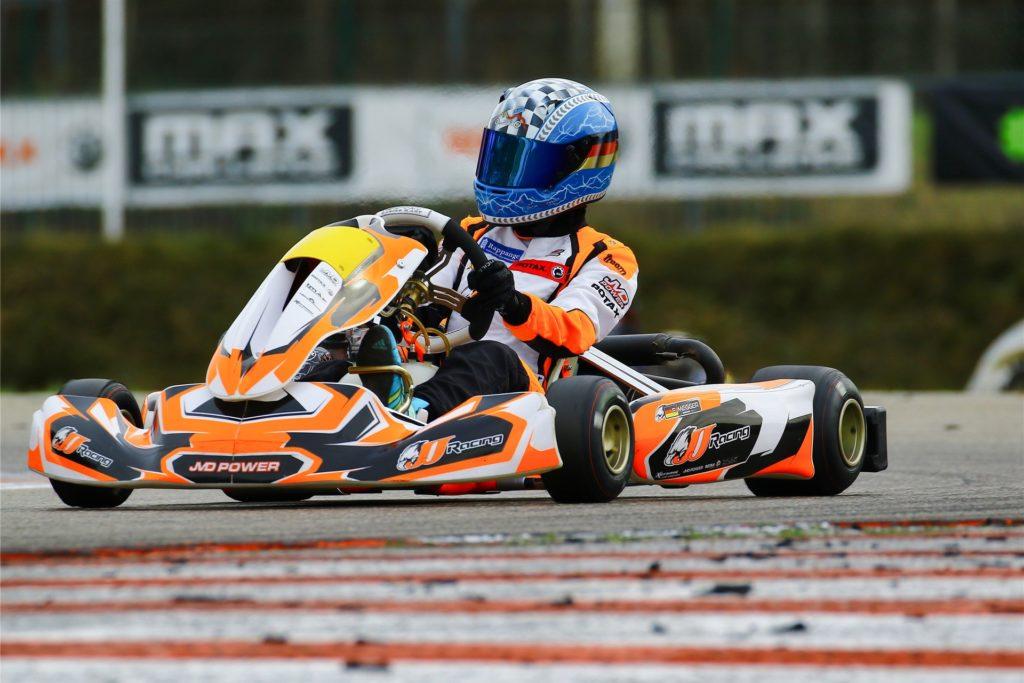 """Der Halterner Kartpilot Farin Megger /14) fährt von nun an für das niederländische Team """"JJ Racing""""."""