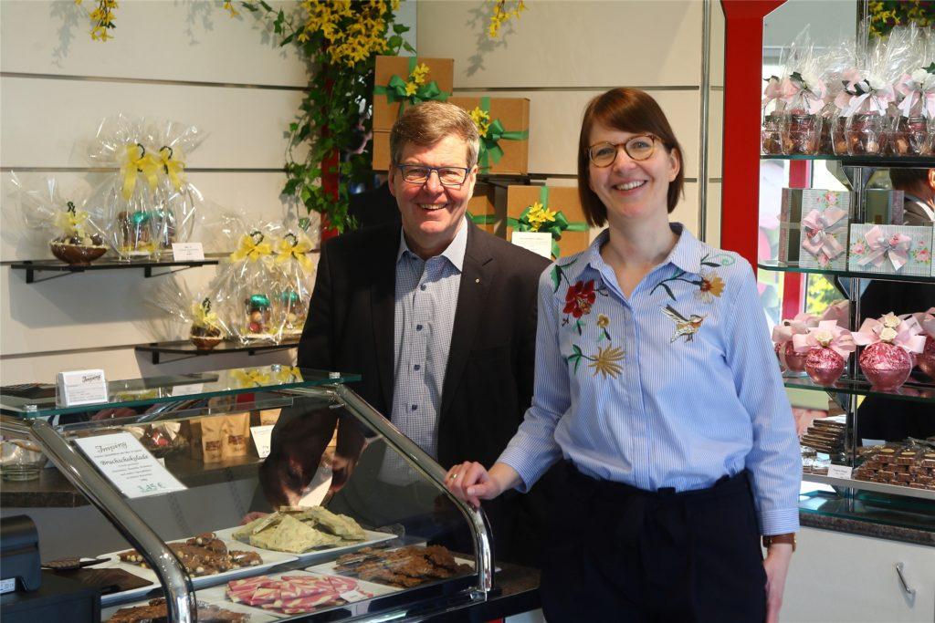 Eva-Maria und Walter Imping führen gemeinsam die Geschäfte der Confiserie Imping.