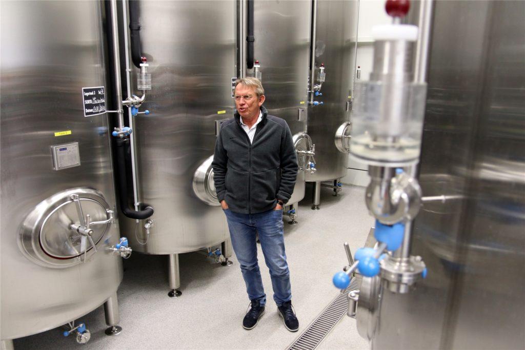 Dr. Thomas Raphael, Geschäftsführer der Bergmann-Brauerei, ist sich sich, dass sein Unternehmen die Krise übersteht.