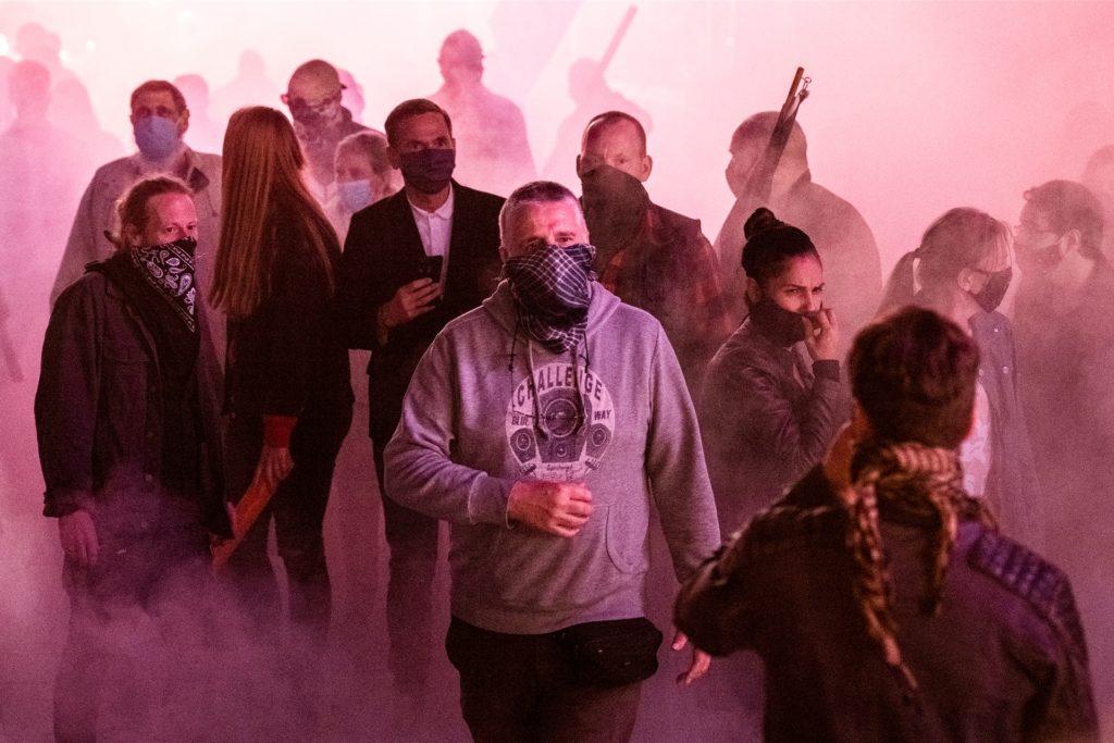 Eskalation im Gerberzentrum: Nach einer Kundgebung geraten Rechtsextreme mit Gegendemonstranten aneinander.