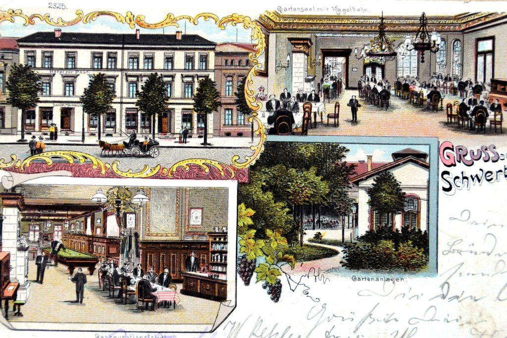 Im früheren Hotel Zur Post an der Bahnhofstraße wurde vor 90 Jahren der Heimatverein Schwerte gegründet.