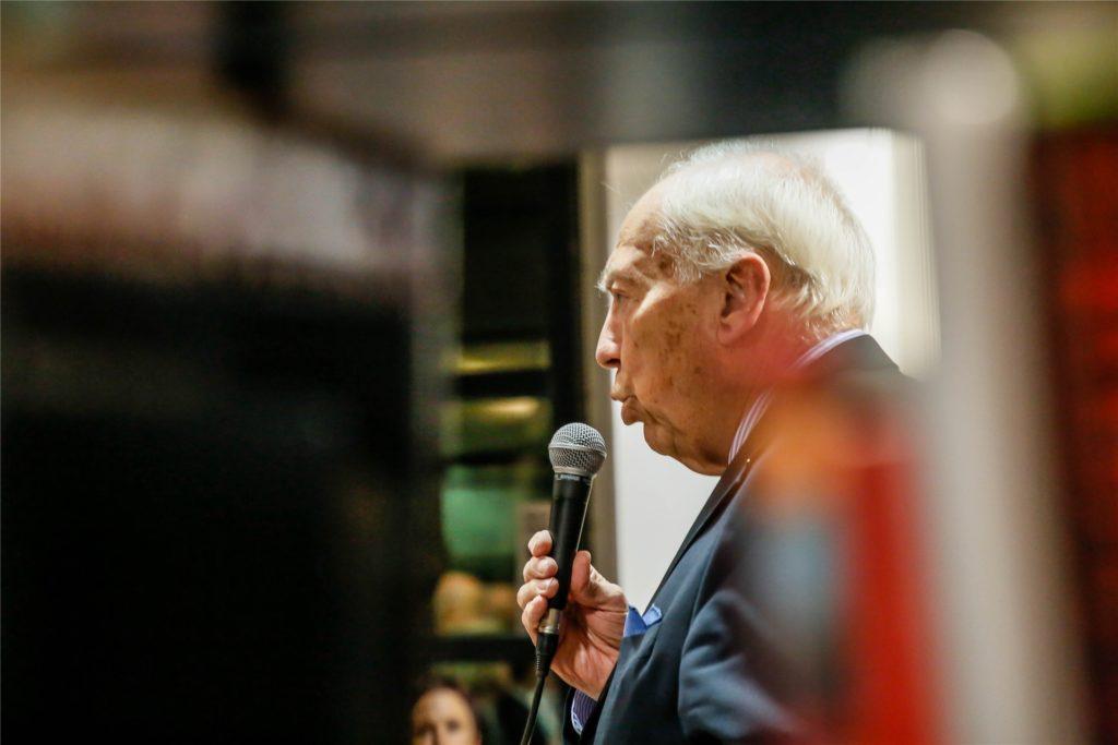 """Es war seine Idee und sein Engagement: Regelmäßig lud Dr. Walter Aden als Vorsitzender der Freunde der Stadt- und Landesbibliothek zu """"Dortmund liest"""" ein."""
