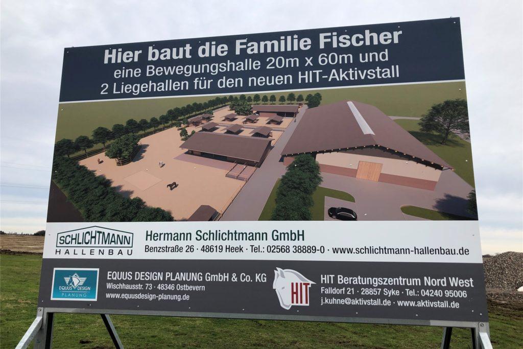 Auch von einem Bauprojekt des benachbarten Hofes Fischer profitiert der Reit- und Fahrverein Wickede-Asseln-Sölde. Die Familie Fischer baut einen