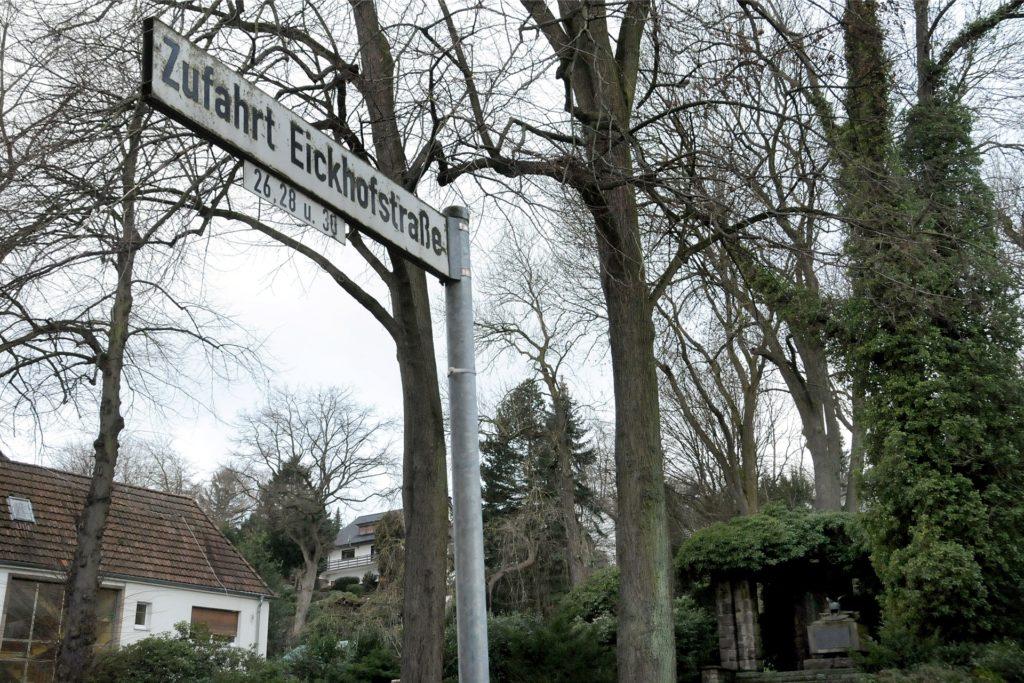 """Die offizielle Zufahrt zur """"Villa Schwerte"""