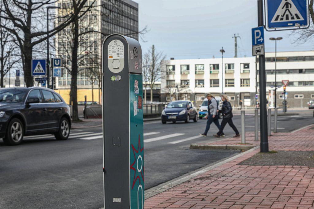 Auch am Freistuhl sollen Carsharing-Plätze entstehen - die Ladesäulen und der Zugang zum ÖPNV bieten gute Voraussetzungen.