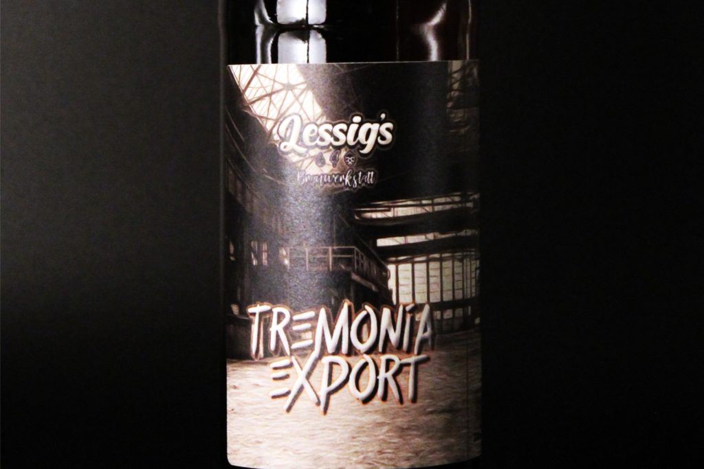 Tremonia-Export heißt das erste Bier aus dem Hause Lessig. Die Etiketten gestaltet Daniel Lessig selbst.