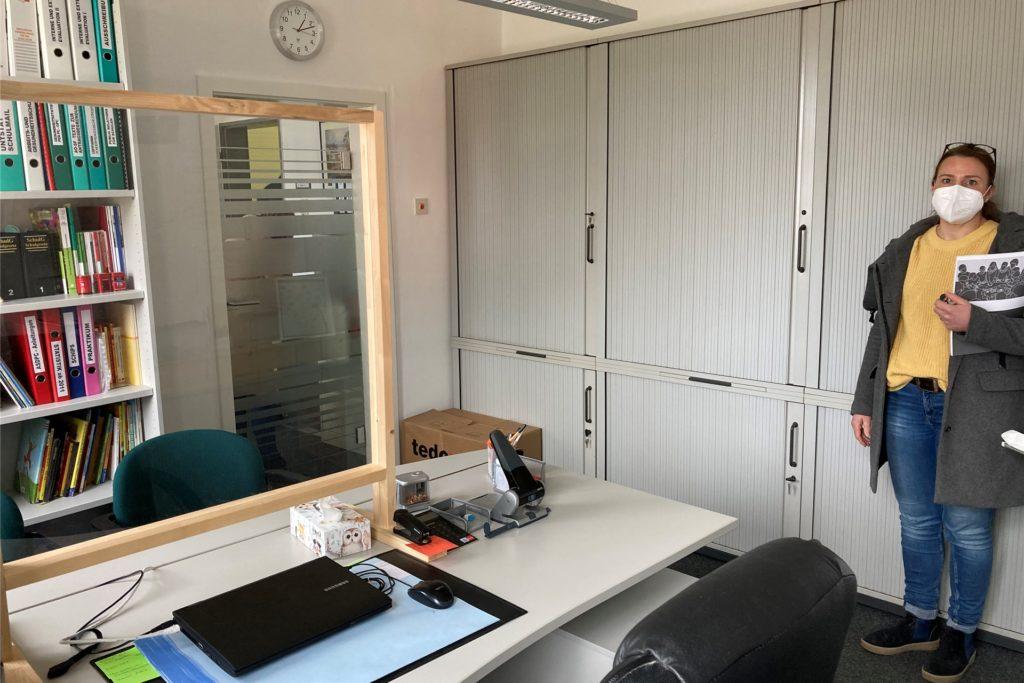 Laura Stachowiak hat ihr eigenes Büro dem Kollegium für Gespräche unter vier Augen zur Verfügung gestellt. Aus Platzmangel.