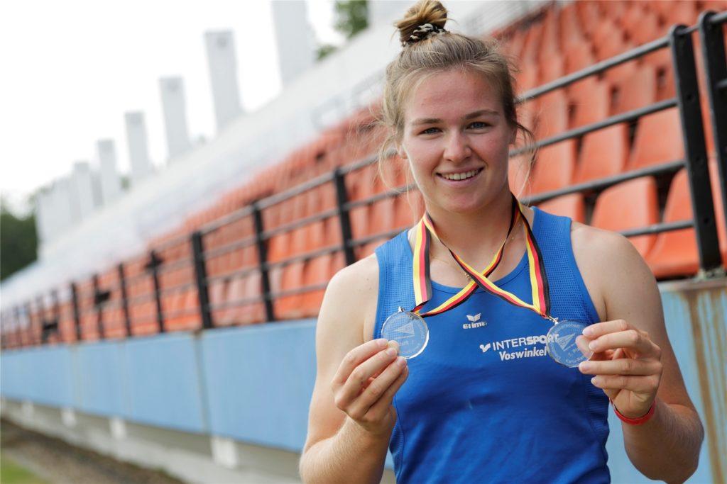 Obwohl Olympia nicht stattfinden konnte, hatte Jule Hake mit den DM-Titeln im vergangenen Jahr trotzdem etwas zu feiern.