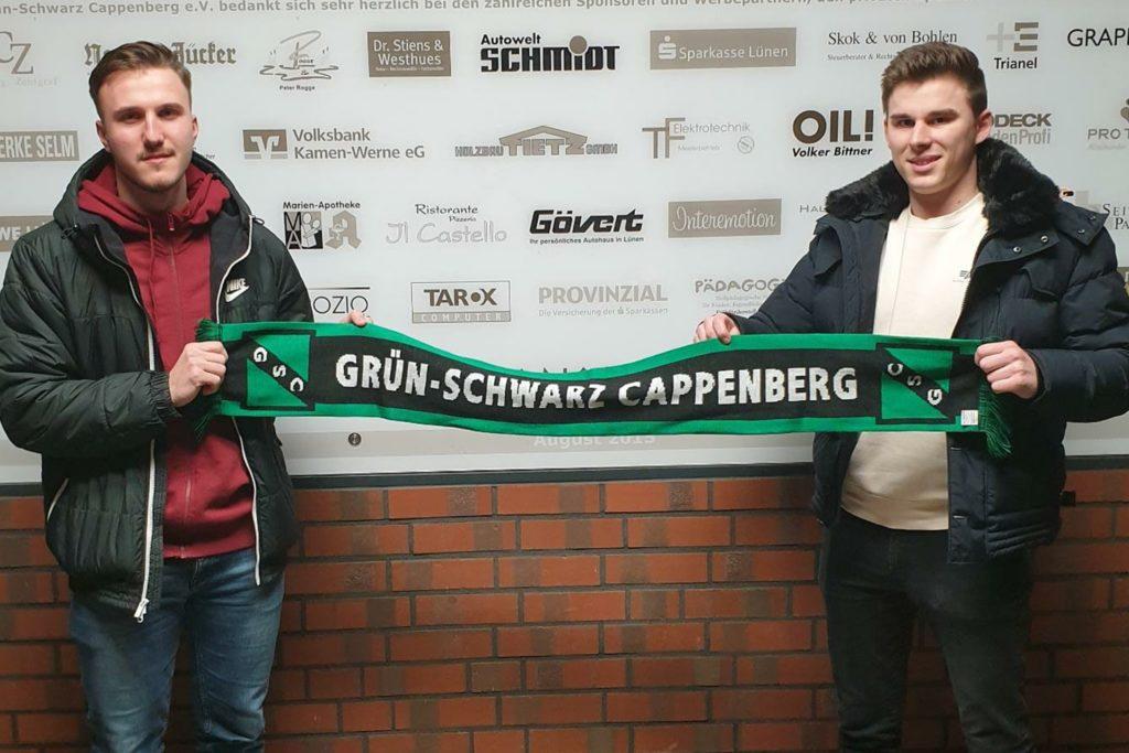 Alex Griskevic (l.) und Dennis Kozlik spielen ab der neuen Saison für GS Cappenberg.