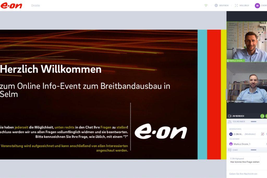 Das Unternehmen Westenergie Breitband lädt Selmer zu Onlinebürgerversammlungen ein.