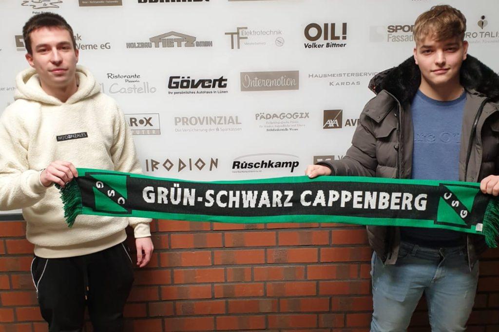 Eduard Lorenz (l.) und Mike Zielinski wechseln im Sommer vom Kamener SC zu GS Cappenberg.