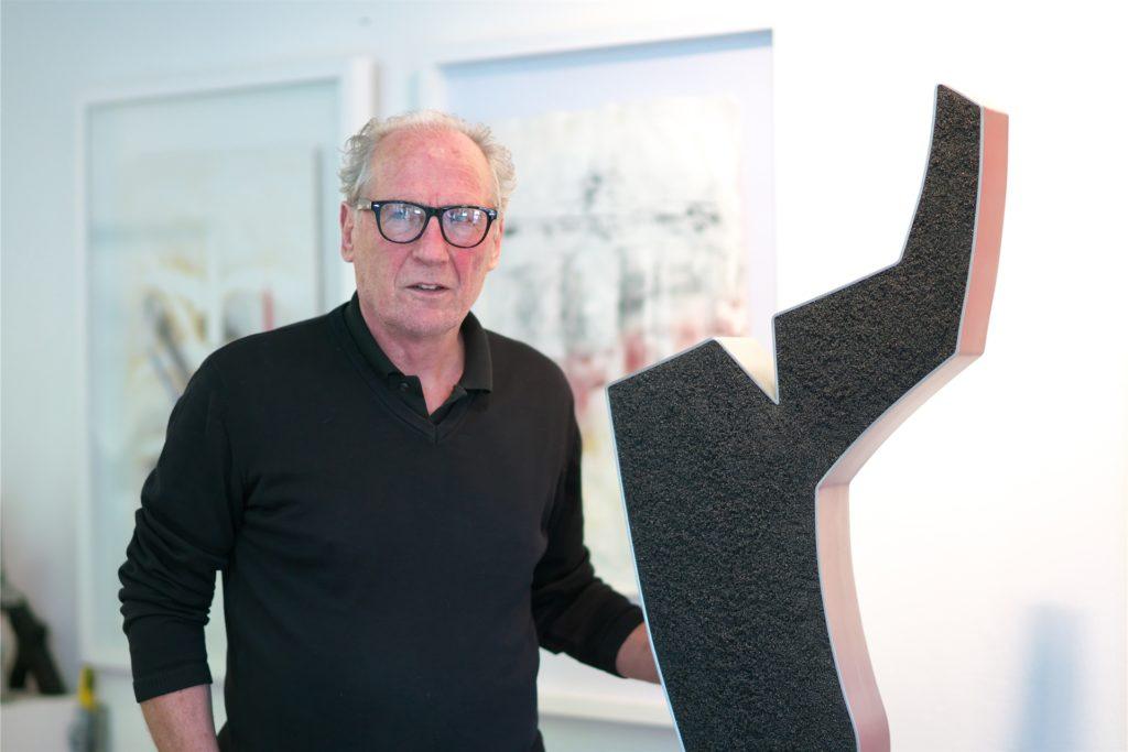Ulrich Schriewer arbeitet auch skulptural.