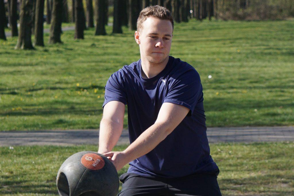 Hammerwerfer Rik Amann brauchte die letzten Monate Alternativen zu seinem üblichen Sportgerät.