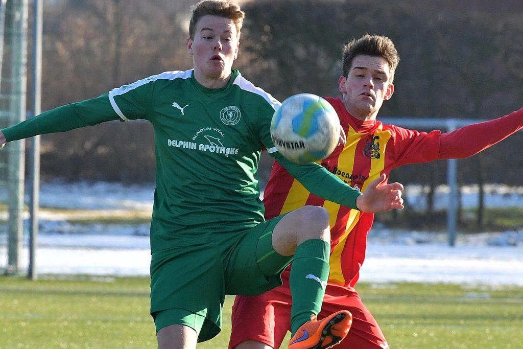Gianluca Kösling (l.) spielte in Lünen auch schon für Westfalia Wethmar und den BV Lünen.