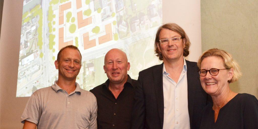 Investor Michael Hiesgen und Bauunternehmer Johannes Stock verwirklichen die Katharinenhöfe in Hamm-Bossendorf.