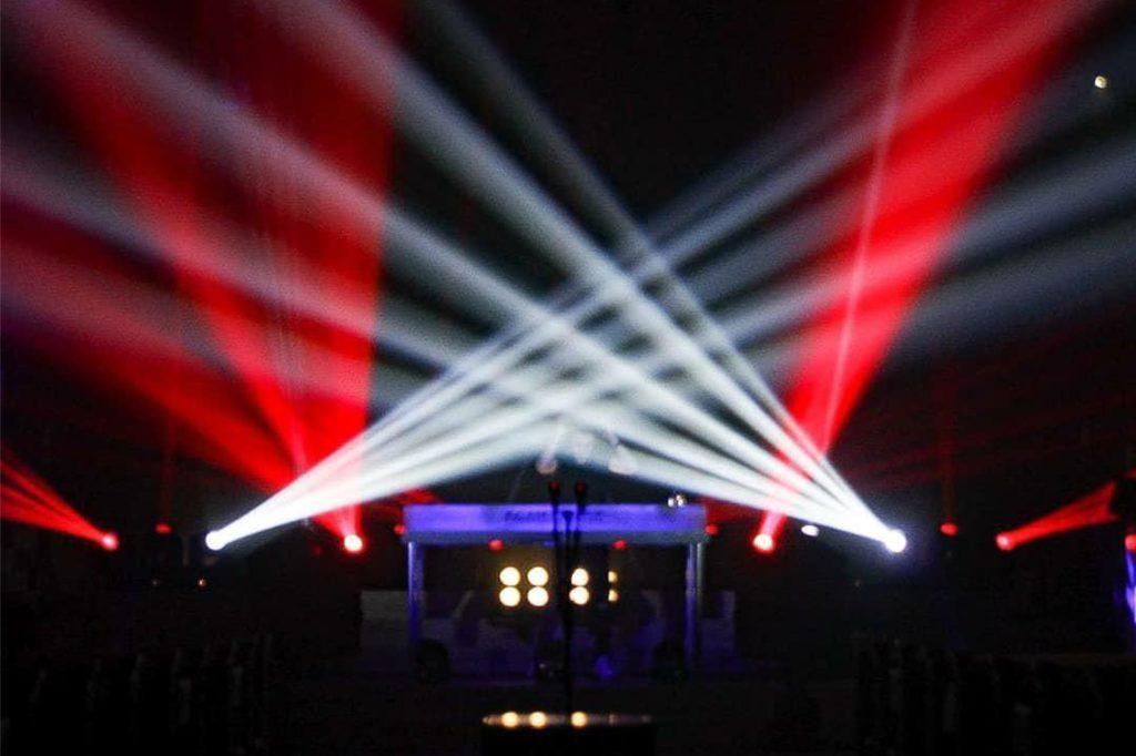Die fantastische Lichtshow lieferte das Bocholter Team Ladderman ehrenamtlich ab.