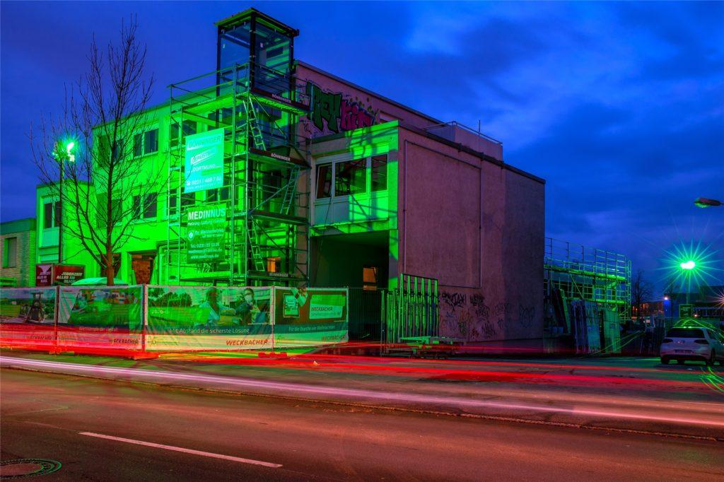 Der neue Firmensitz von Weckbacher in Dortmund mit dem Sicherheitszentrum NRW für Muster- und Ausstellungsflächen soll im Oktober dieses Jahres bezogen werden.