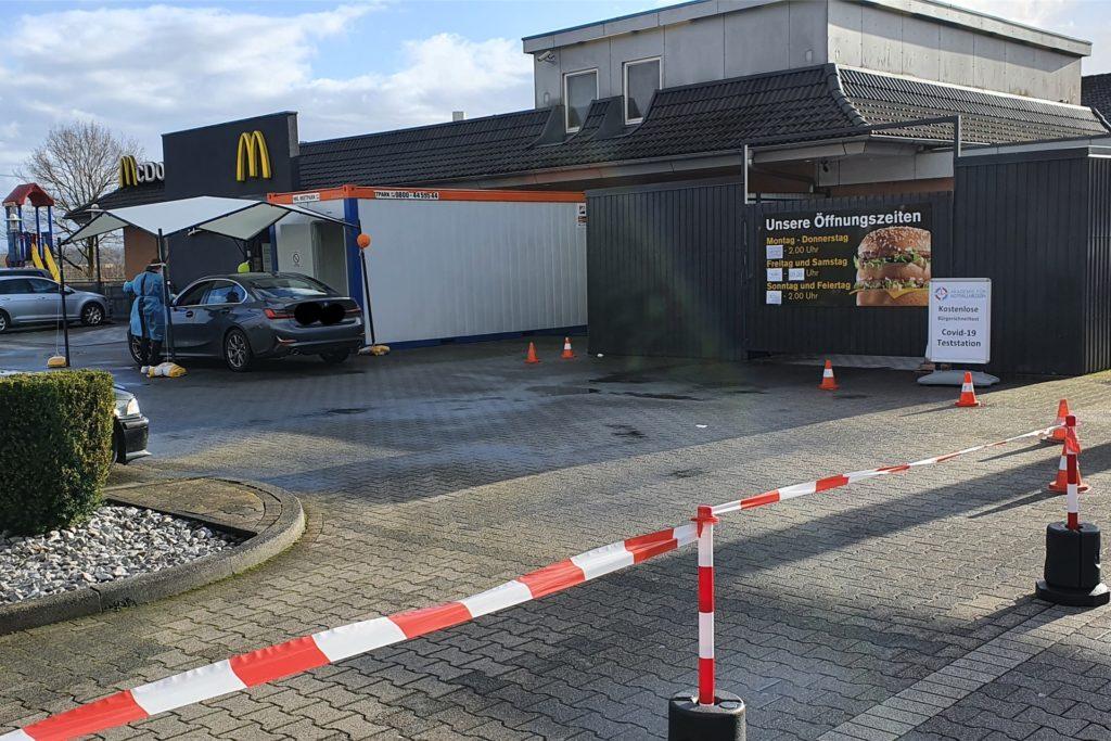 Seit Montag ist das Schnelltestzentrum bei McDonald's an Nordlippestraße 52 in Werne geöffnet.