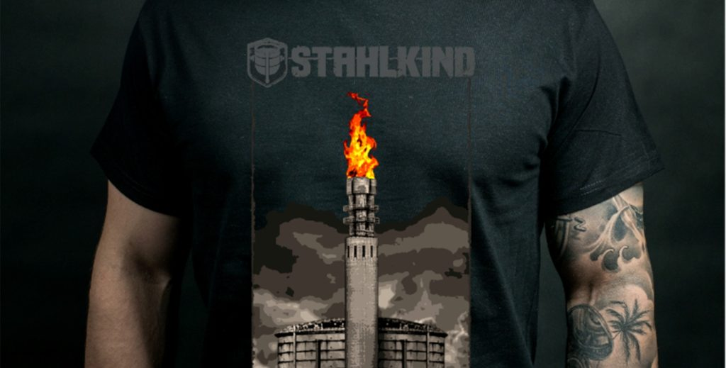 Stahlkind macht die Hörder Fackel zum T-Shirt-Motiv.