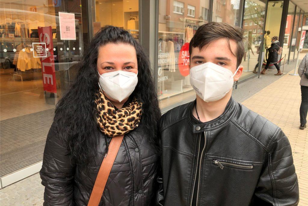 Suzan und Noah Riehl hatten einen Termin bei H&M vereinbart.