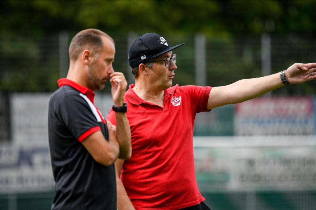 Mittlerweile ist Mark Bördeling (r.) als Trainer beim VfB Lünen aktiv.