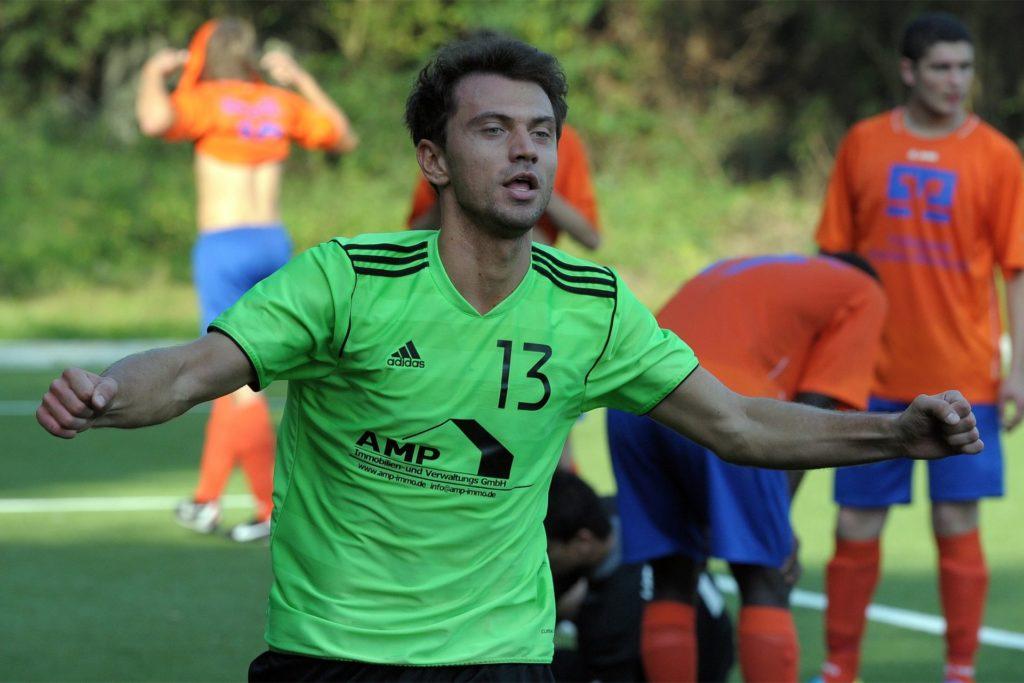 Der jubelnde Samir Zulfic: Über Jahre hinweg ein konstantes Bild im Lüner Fußball.
