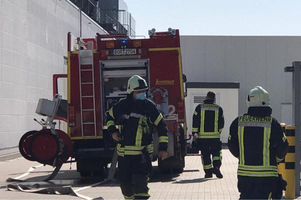 Die Feuerwehr Südlohn rückte an die Ossenschloge aus.