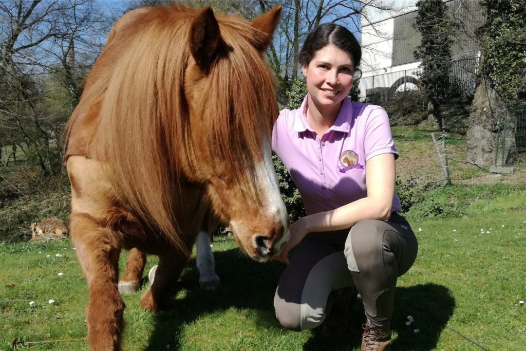 Zwei, die sich scheinbar blind verstehen: Pony Obelix und Talina Lorei.
