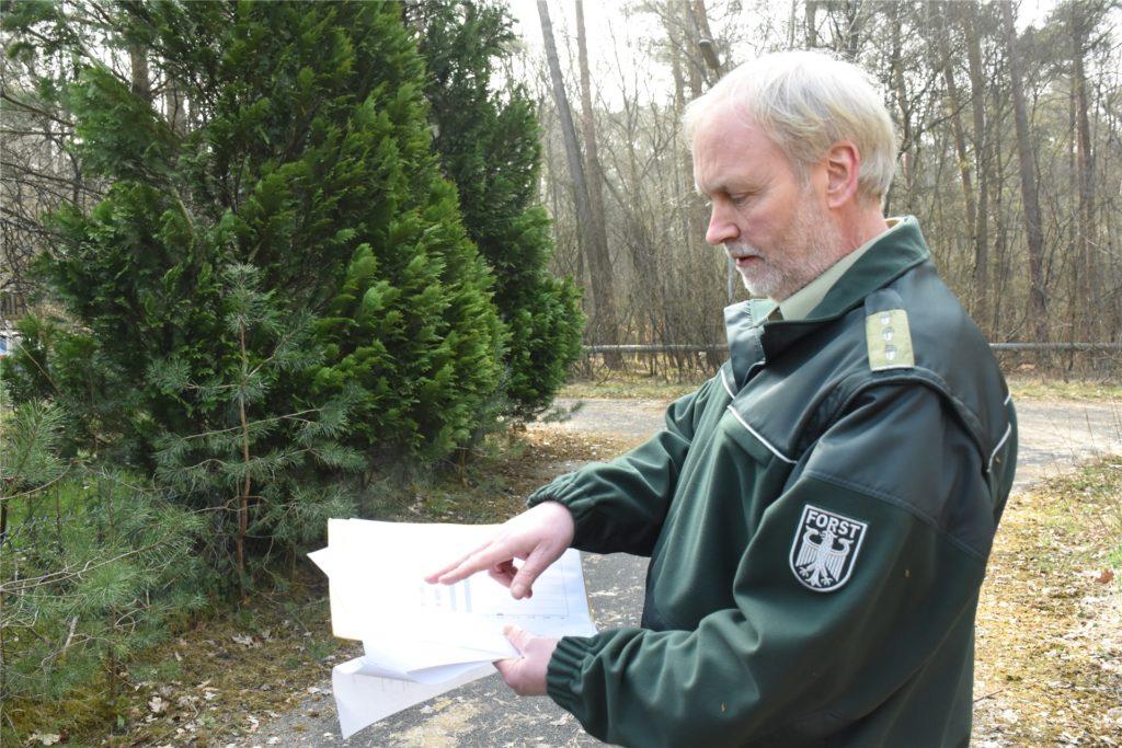 Horst Böke war schon als Revierförster zuständig, als die Bundeswehr das Munitionsdepot noch betrieben hat.