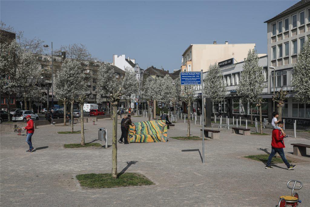 Der Mehmet-Kubaşık-Platz an der Münsterstraße/Mallinckrodtstraße.