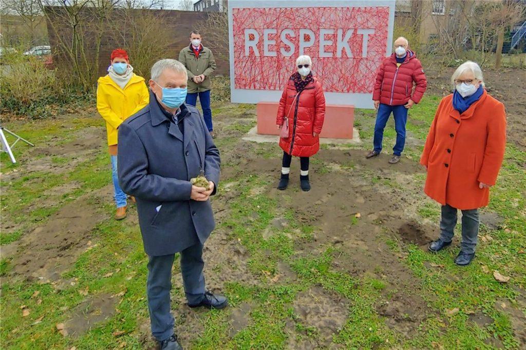 Auch das Respekt-Kunstwerk im Stadtsfeld ist Teil des