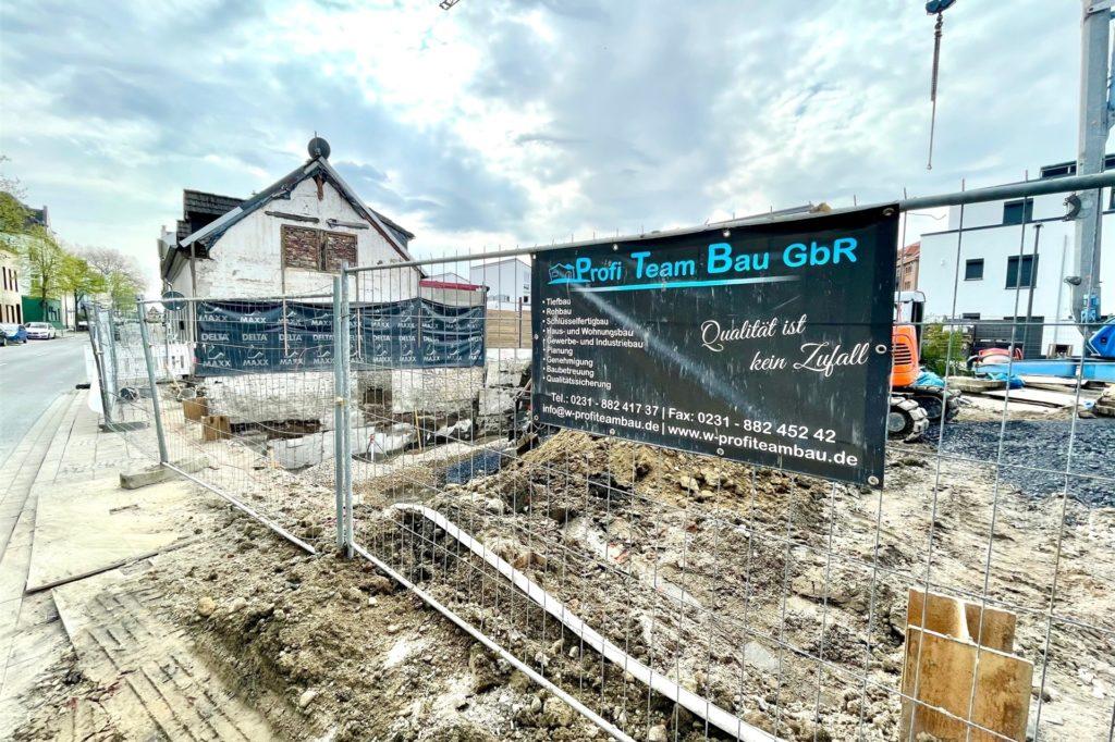 Eine weitere Baustelle an der Weingartenstraße.