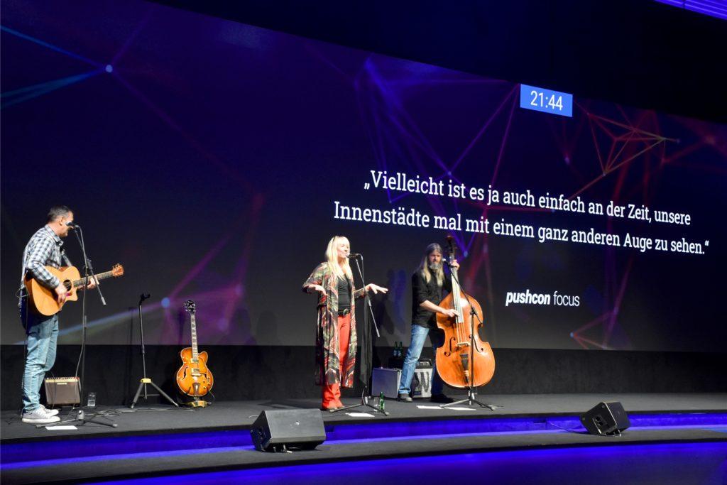 Für Live-Musik war bei der Pushcon Focus ebenfalls gesorgt.