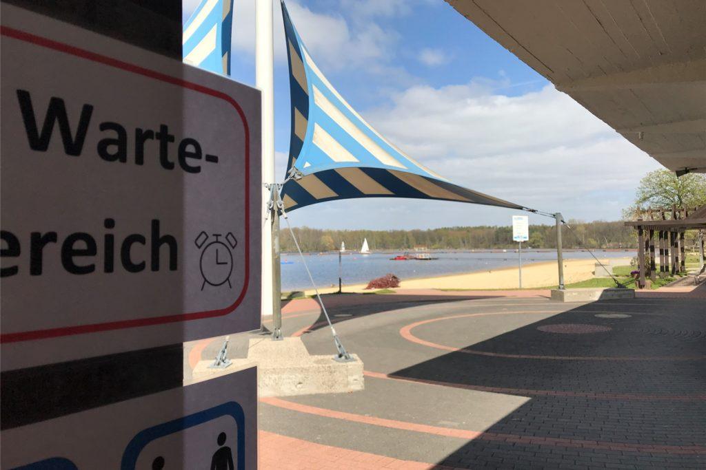 Die schönste Aussicht hat das DLRG-Testzentrum am Seebad.