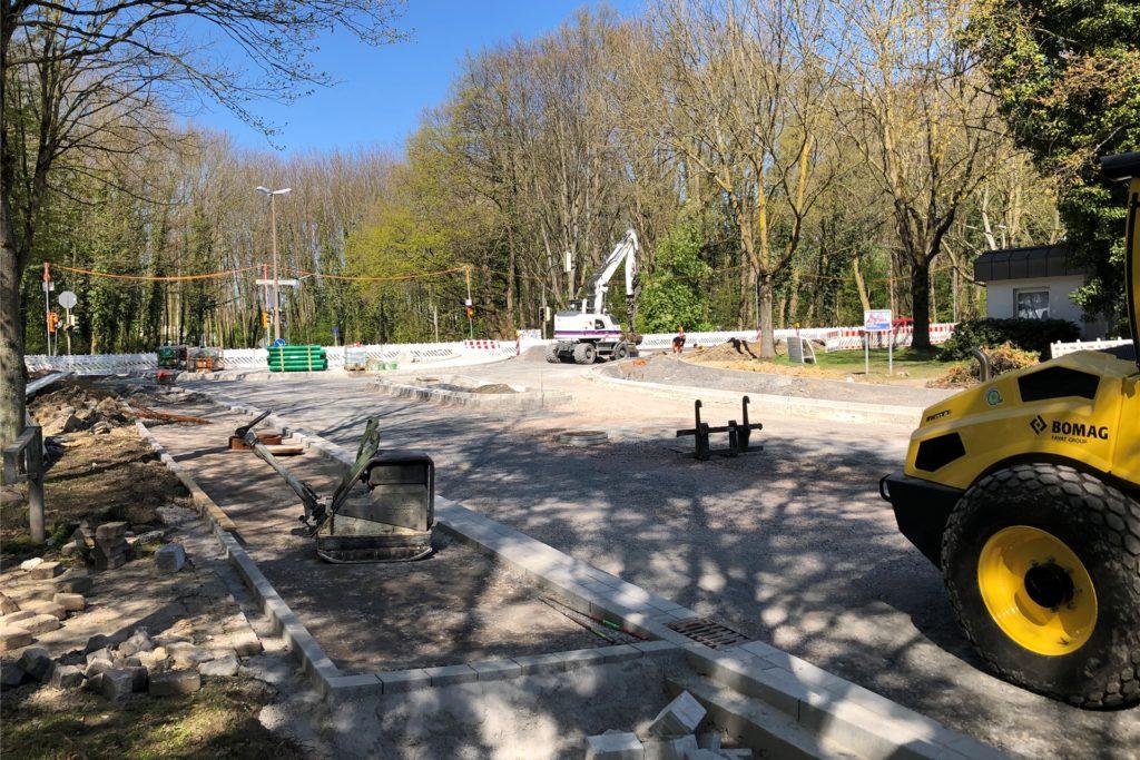 So sieht die Baustelle vom Buschei aus gesehen aus.